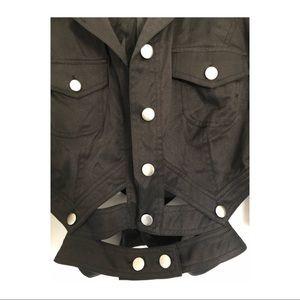 High-waisted button down denim Jacket